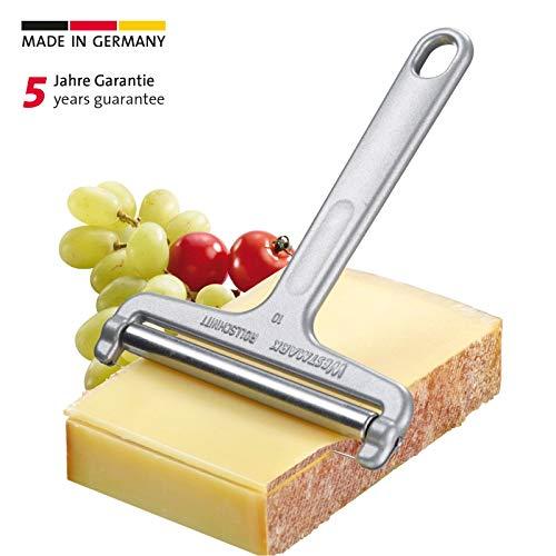 Westmark Käseschneider mit Rolle und Schneiddraht, Variable Schnittstärke, Rostfreier...