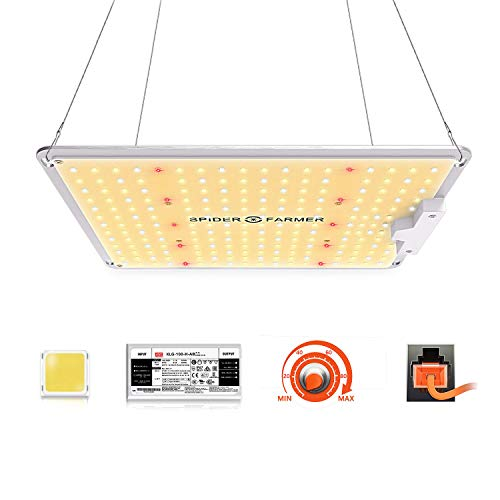 Spider Farmer LED Grow Lampe SF 1000 LED Pflanzenlampe Vollspektrum und Dimmbarer Funktion mit...