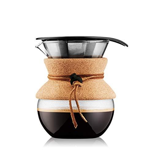 Bodum 11592-109 Pour Over Kaffeebereiter mit Permanentfilter 0,5 L, Mehrlagig, transparent, 13,8 x...