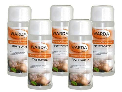 Saunaduftkonzentrat Set 5 x 100 ml von Warda freie Duftwahl aus über 170 Duftsorten - Saunaaufguss...