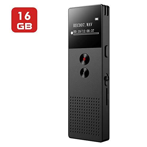 16GB Digitales Diktiergerät, Mibao USB Professional Diktiergerät Voice Recorder mit MP3-Player,...