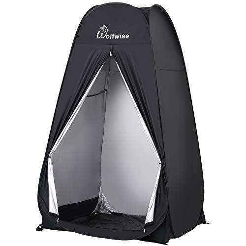 WolfWise Pop up Toilettenzelt Umkleidezelt, Camping Duschzelt Outdoor Mobile Toilette Umkleidekabine...
