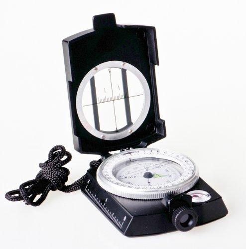 Huntington Kompass MG1 Black Militär Marschkompass/Peilkompass Premium Qualität - professionell...
