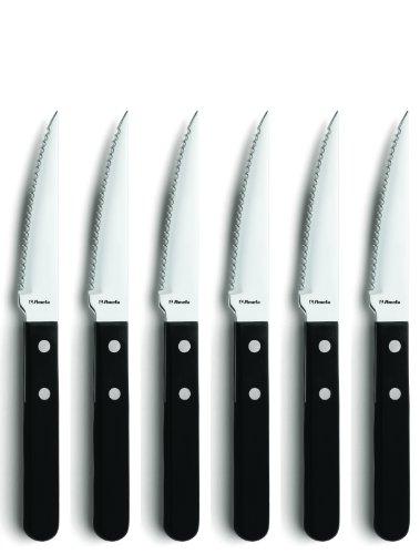 Amefa PIAZZA 7000 Steak- & Pizza-Messer , 10,5 cm Klingenlänge, 6-teilig, für bis zu 6 Personen,...