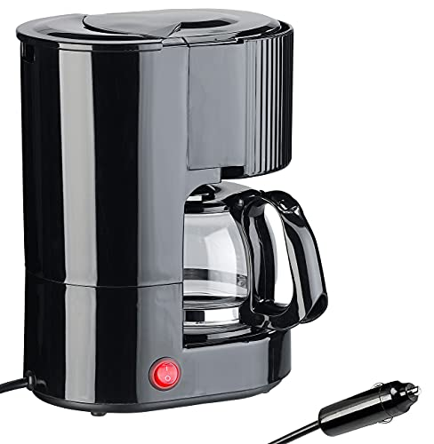Rosenstein & Söhne 12V Kaffeemaschine: Kfz-Filterkaffee-Maschine, bis zu 3 Tassen, 650 ml, 12 Volt,...