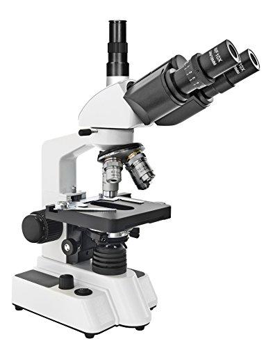 Bresser Durchlicht Mikroskop Researcher Trino 40x-1000x Vergrößerung für gehobene Ansprüche, LED...