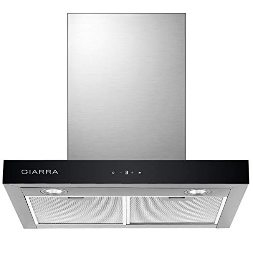 CIARRA CBCS6102 Dunstabzugshaube 60cm 550 m³/h Abluft Umluft Wandhaube Edelstahl LED Beleuchtung...
