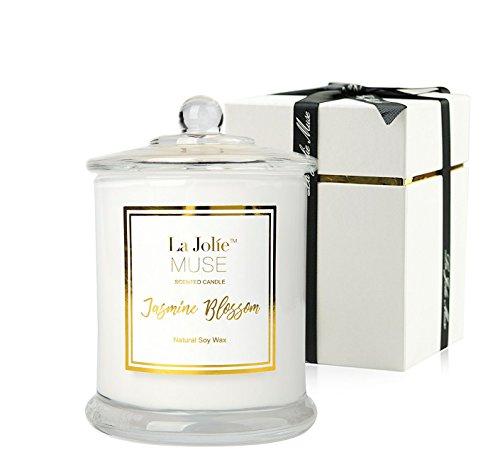 La Jolíe Muse Jasmin Duftkerze, Geschenk für Frauen, natürliches Sojawachs, 65 Stunden...