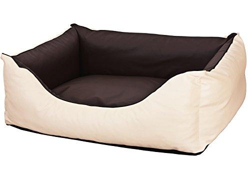 CopcoPet - Hundebetten Rocco L 90 x 70cm, Beige-Braun, 2in1 wasserabweisendes Hundebett,...