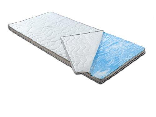 BMM Topper KSCell® Gel-Schaum Matratzenauflage für Matratzen, SilverCare 3D-Klimaband Border...