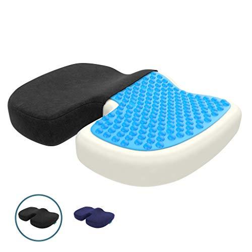 bonmedico Orthopädisches Sitzkissen mit Gel, Memory Foam Stuhlkissen zur Steißbein-Entlastung für...