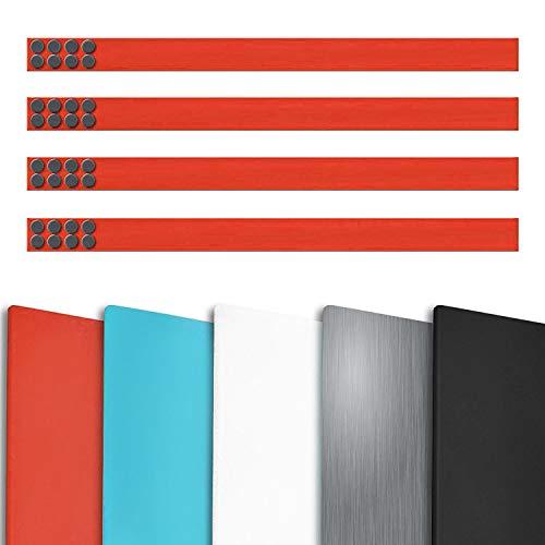 Magnetleiste Büro im 4er Set | inklusive Magneten | als Magnet Wandleiste für Fotos, Dokumente,...