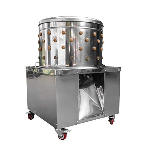 Geflügel-Rupfmaschine mit Wasseranschluss für Hühner Puten Trommel 60 cm 2200 Watt