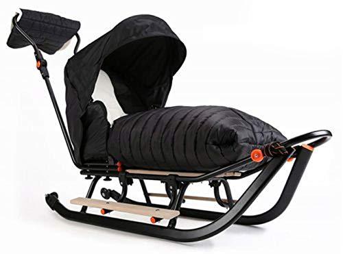 Premium LINE Plus Kinderschlitten Babyschlitten, Fußsack - 3-in-1- Kinderschlitten mit Rädern und...