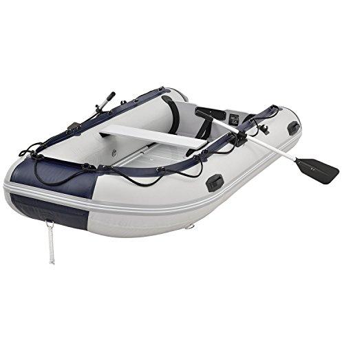 ArtSport Schlauchboot grau mit Aluboden aufblasbar 3,20 m   4 Personen   Paddelboot inkl. Paddel,...