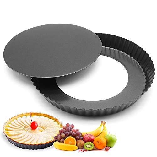 Tarteform, Quicheform, Köstlichen Obstkuchenform 28 cm, Backform mit Hebeboden, Wellenrand,...