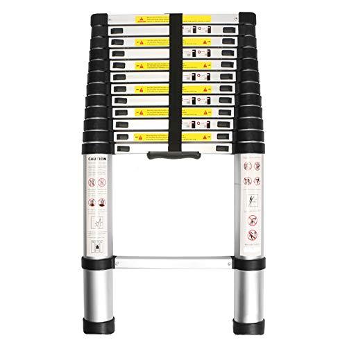 WolfWise 3,8M Teleskopleiter, Rutschfester Klappleiter Stehleiter Mehrzweckleiter aus hochwertiges...
