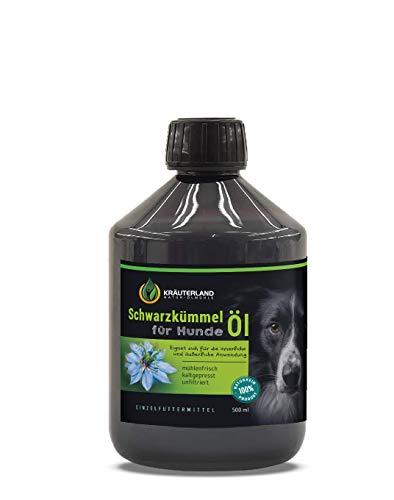 Kräuterland - Schwarzkümmelöl für Hunde 500ml - 100% rein, ungefiltert, kaltgepresst -...