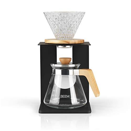 BEEM Pour Over Kaffeebereiter Set - 4 Tassen | Classic Selection | 4-teilig | Glas-Handfilter in...