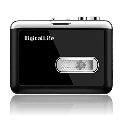 Tragbarer MP3-Kassetten-Walkman-Kassettenspieler - Persönlicher Audiokassetten-zu-MP3-Konverter,...