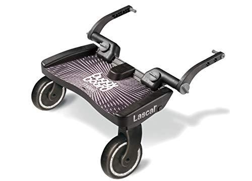 Lascal BuggyBoard Maxi, Kinderbuggy Trittbrett mit großer Stehfläche, Kinderwagen Zubehör für...