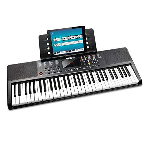 RockJam 61-Tasten-Tastatur Klavier mit Klaviernote Aufkleber Stromversorgung Notenständer und...