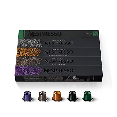 Nespresso Kaffeekapseln Auswahl Espresso (50 Kapseln)