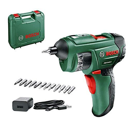 Bosch Home and Garden 0603977005 Akkuschrauber PSR Select (1,5 Ah, 3,6 Volt System, mit Micro USB,...