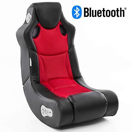 Wohnling Soundchair Booster in Schwarz Rot mit Bluetooth eingebauten Lautsprechern |...