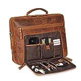 DONBOLSO Laptoptasche San Francisco 15,6 Zoll Leder I Umhängetasche für Laptop I Aktentasche für...