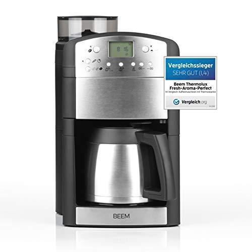 BEEM Fresh-Aroma-Perfect Thermolux   Kaffeemaschine mit Mahlwerk für Kaffeebohnen und Filterkaffee ...
