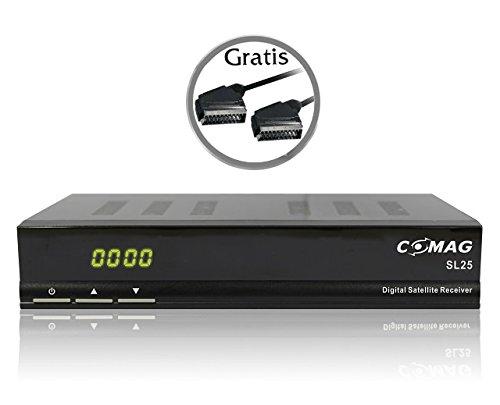 COMAG SL 25 Sat Receiver schwarz inkl. gratis Qualitäts-Scartkabel
