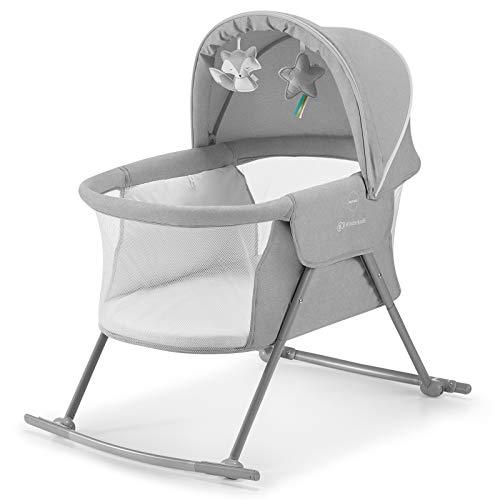 Kinderkraft Kinderbett 3 in 1 LOVI, Kinderreisebett, Stubenwagen, Babywiege, Baby Wippe,...