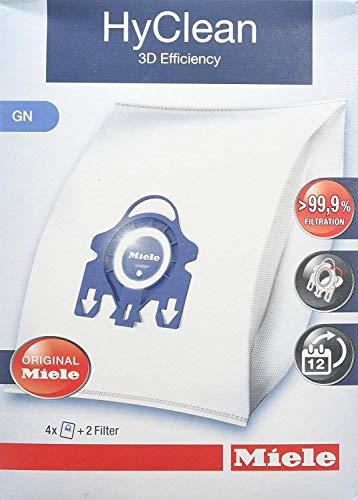 Miele 9917730 Staubbeutel GN HyClean 3D, 4 Staubbeutel, 1 Air Clean Abluftfilter für saubere...