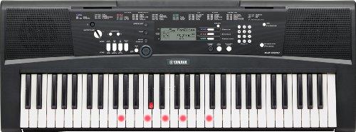 Yamaha Digital Keyboard EZ-220, schwarz – Portables Digital-Keyboard mit USB-to-Host-Anschluss –...