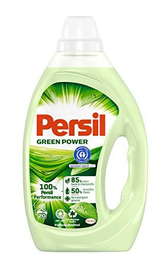 Persil Green Power, Vollwaschmittel, 20 Waschladungen mit naturbasierten Inhaltsstoffen,...