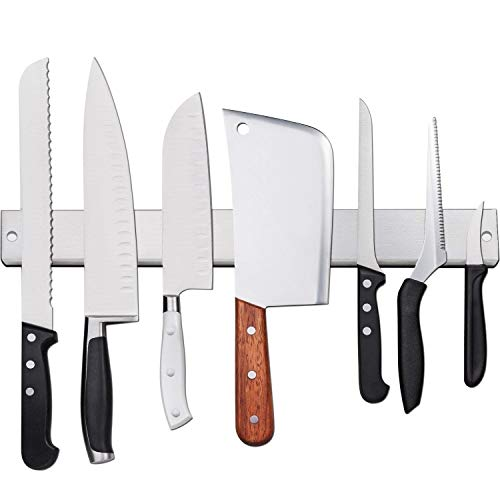 [Verbesserte 50cm] Magnetleiste Messer, Extra Starker Magnet Messerhalter aus Edelstahl,...
