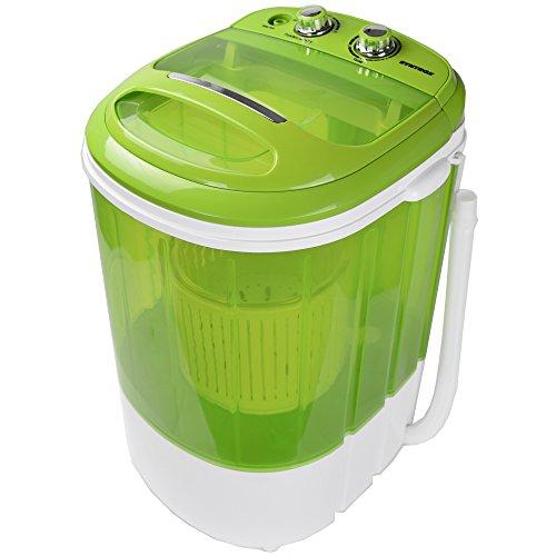 Syntrox Germany WM-200W Waschmaschine mit Schleuder Campingwaschmaschine Mini Waschmaschine...