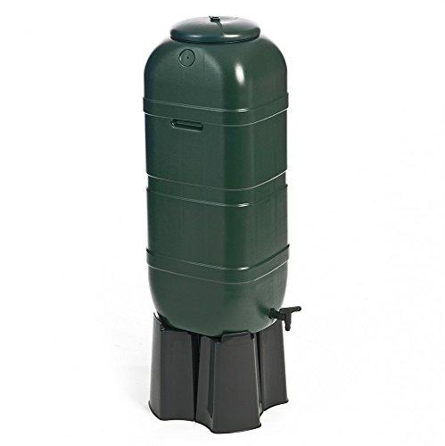 Kreher Regentonne, Wassertonne 100 Liter in Grün mit Stand, Füllautomat und Wasserhahn. Optimal...