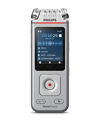 Philips VoiceTracer Audiorecorder DVT4110 digitales Diktiergerät Aufnahmegerät für Vorträge und...