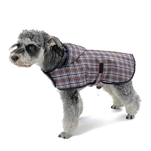 LEOFANS Haustier Hunde Regenmantel Regenjacke für Kleine Mittlere Hunde mit 4 Größen Wasserdicht...