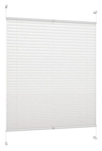 DecoProfi Plissee, Stoff, Weiß, 35 cm x 130 cm