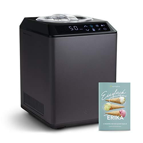 Eismaschine & Joghurtbereiter Erika 2,5 L mit selbstkühlendem Kompressor 250 W, aus Edelstahl mit...