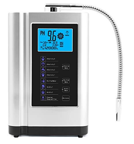 Wasser-Ionisator, Wasserreiniger, PH 3,5 - 10,5 basische Säure-Wasser-Maschine, bis zu -500 mV ORP,...