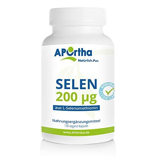 APOrtha® Selen Kapseln 120 Stück I Selen 200 µg aus L-Selenomethionin I in Deutschland...