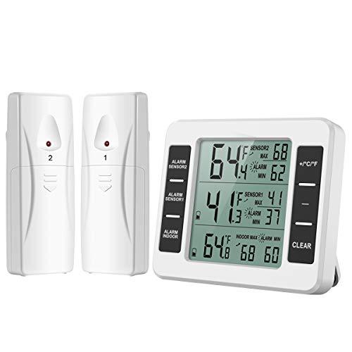 [Genauer] ORIA Kühlschrank Thermometer Gefrierschrank Thermometer, Kühlschrankthermometer Innen...