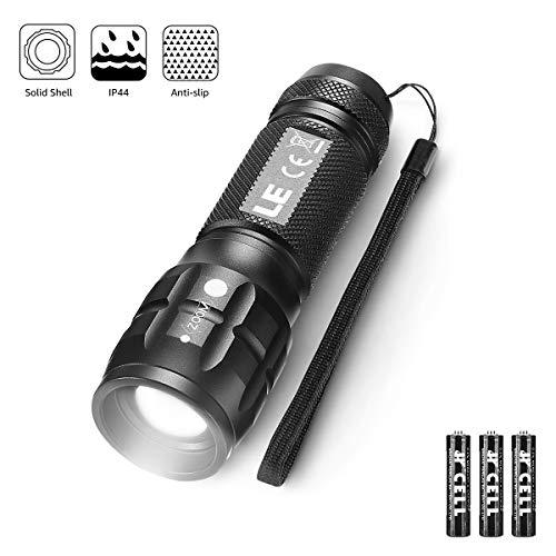 LE LED Taschenlampe, Wasserdicht Taschenlampen für Outdoor Sports, Tragbarer Zoombar Superhelle LED...