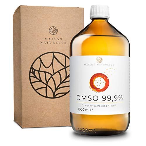 MAISON NATURELLE ® DMSO (1000 ml) – 99,9% pharmazeutische Reinheit – Dymethylsulfoxid ph. EUR...