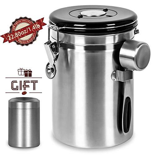 Shayson Kaffeedose Luftdicht,Kaffee Aufbewahrung Kaffeebehälter Aromadicht 1800ml Kaffeedose...