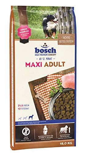 bosch HPC Maxi Adult | Hundetrockenfutter für ausgewachsene Hunde großer Rassen (ab 25 kg) | 1 x...